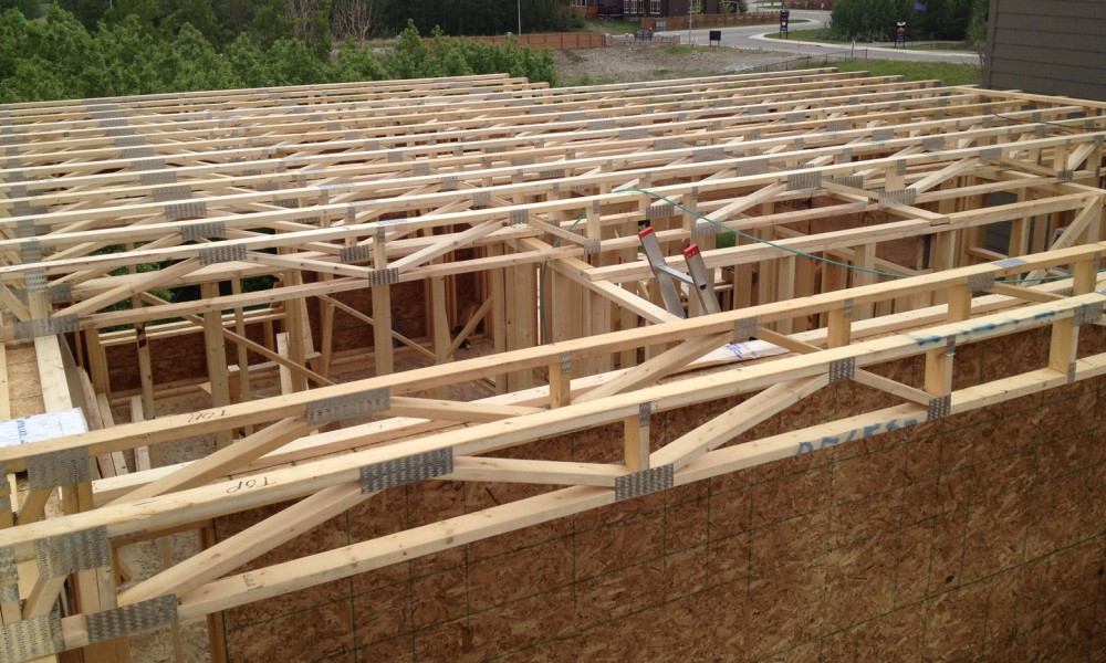 Floor truss span home fatare for Wood floor joist spacing